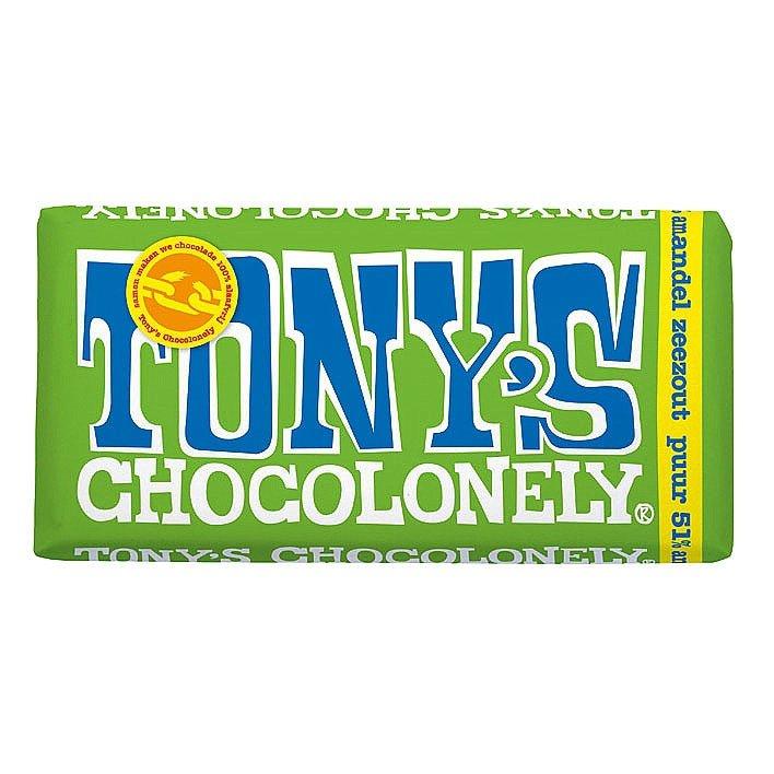 Tony's Chocolonely Puur Amandel Zeezout 15 stuks