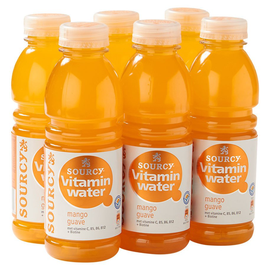 Sourcy Vitaminwater Mango Guave | Petfles 6 x 0,5 liter