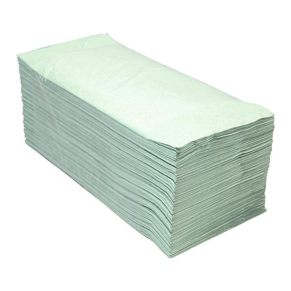 Euro Products   Z- vouwhanddoekjes   1-laags groen   23 x 25 cm   5000 stuks