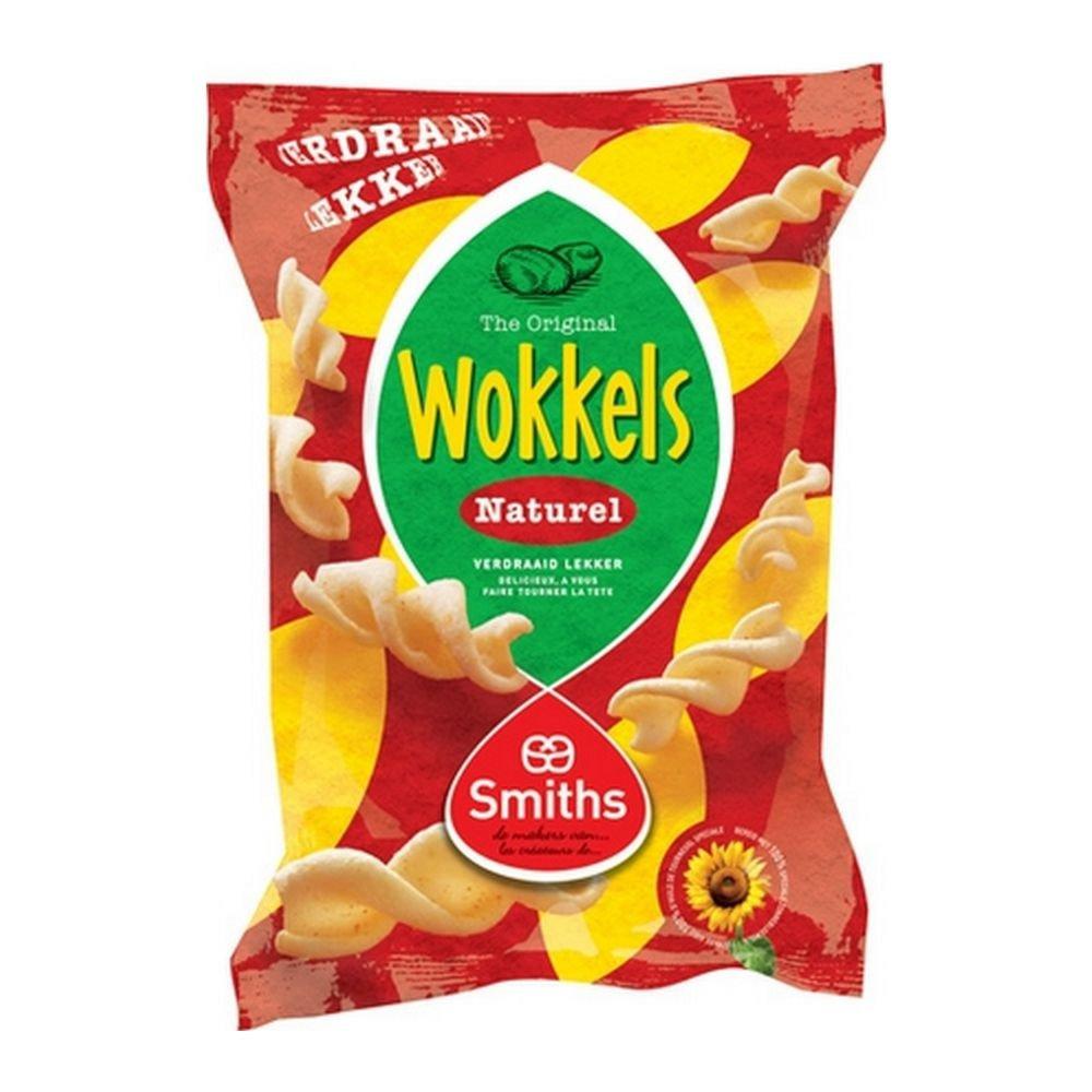 Smiths Wokkels Naturel, 115 gram 20 stuks