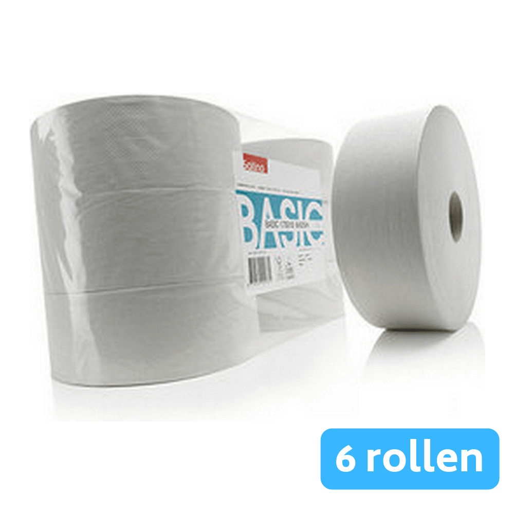 Satino Basic 173018 Jumbo toiletpapier 1-laags 6 x 525 meter