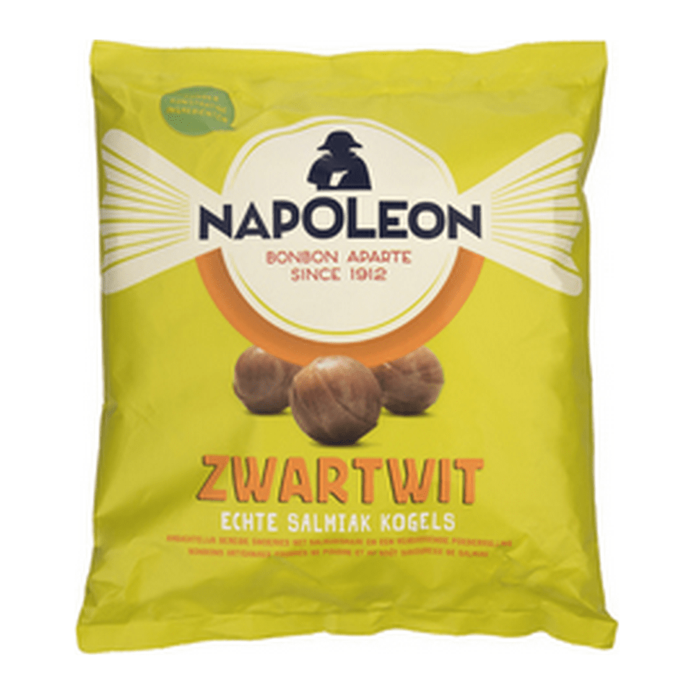 Napoleon | Zwartwit | Salmiak Kogels | Zak 5 kg