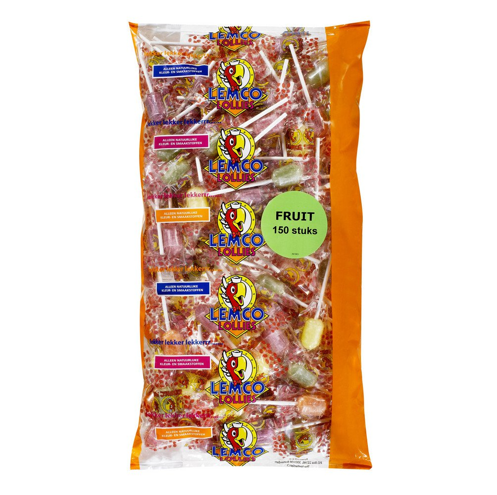 Lemco | Knots Vruchten lollies | 150 stuks