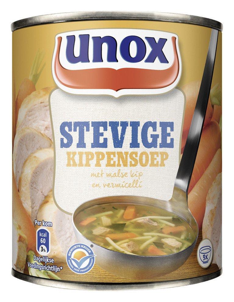 Unox | Stevige kippensoep | 12 x 0,8 liter