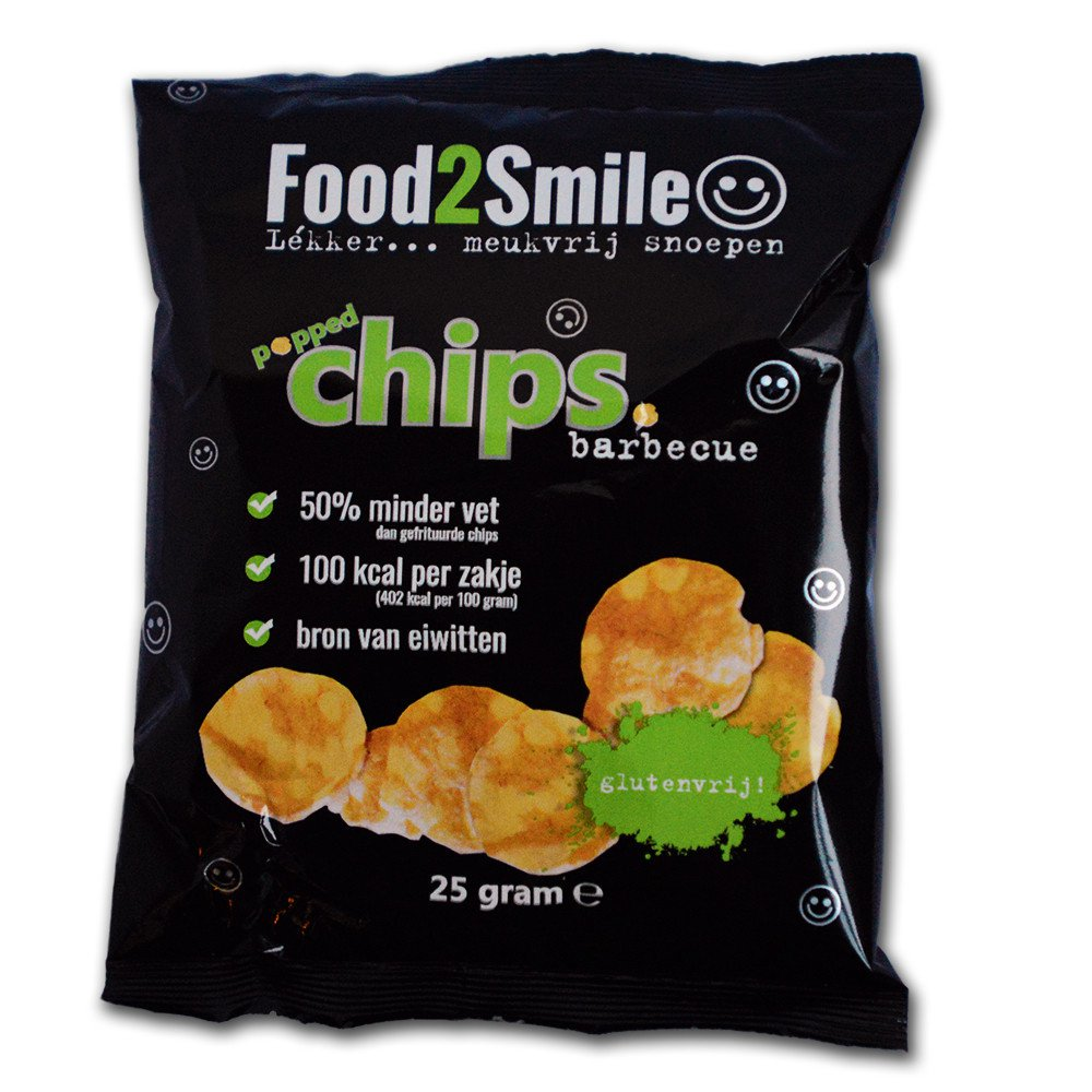 Food2Smile | Popped chips barbecue | 20 x 25 gram