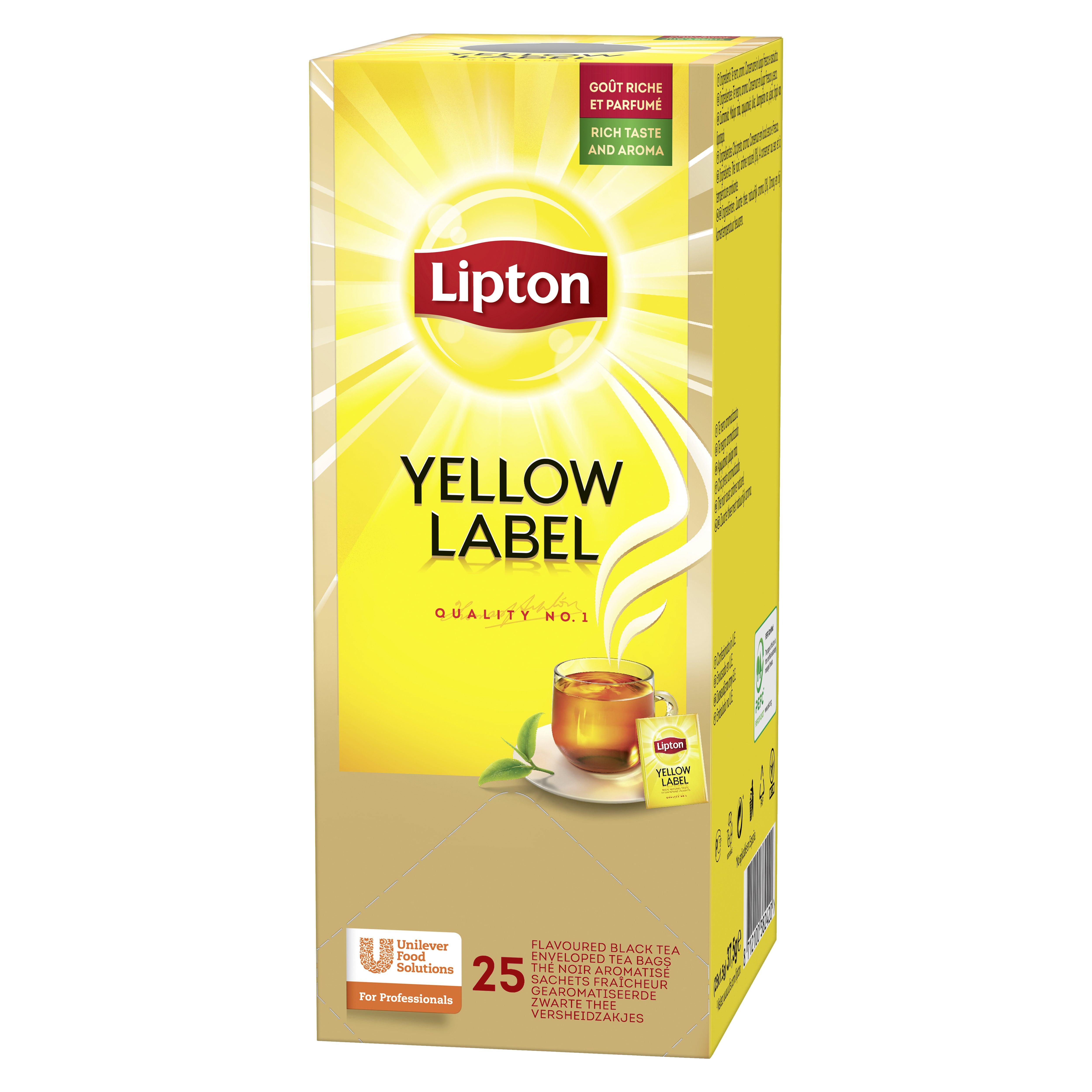 Lipton Thee | Yellow Label | 6 x 25 zakjes
