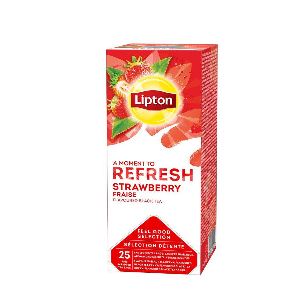 Lipton | Thee Aardbei | 6 x 25 zakjes