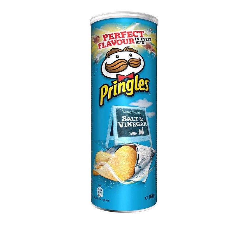 Pringles | Salt & Vinegar | 9 stuks