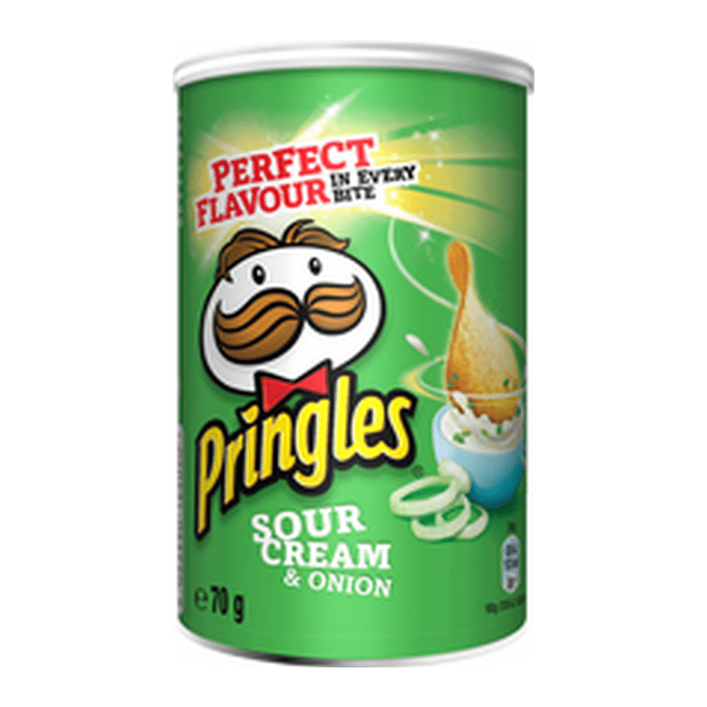 Pringles Sour Cream & Onion 70 gr 12 stuks