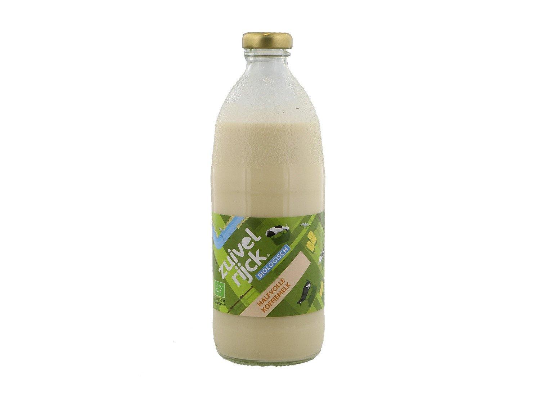 Zuivelrijck biologische halfvolle koffiemelk 15 flesjes