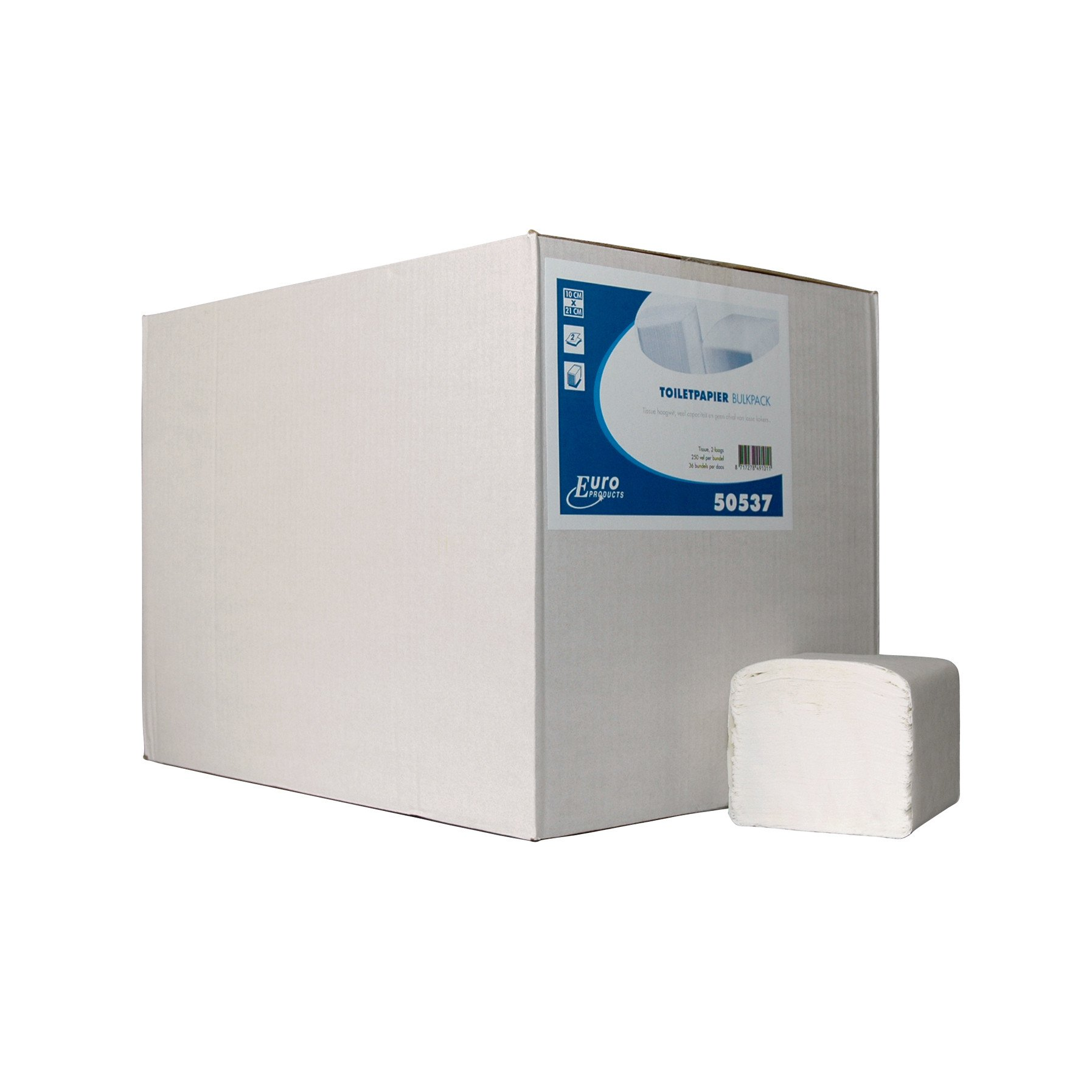 Euro Products | Toiletpapier | 2-laags wit | Bulkpack | 36 x 250 vel