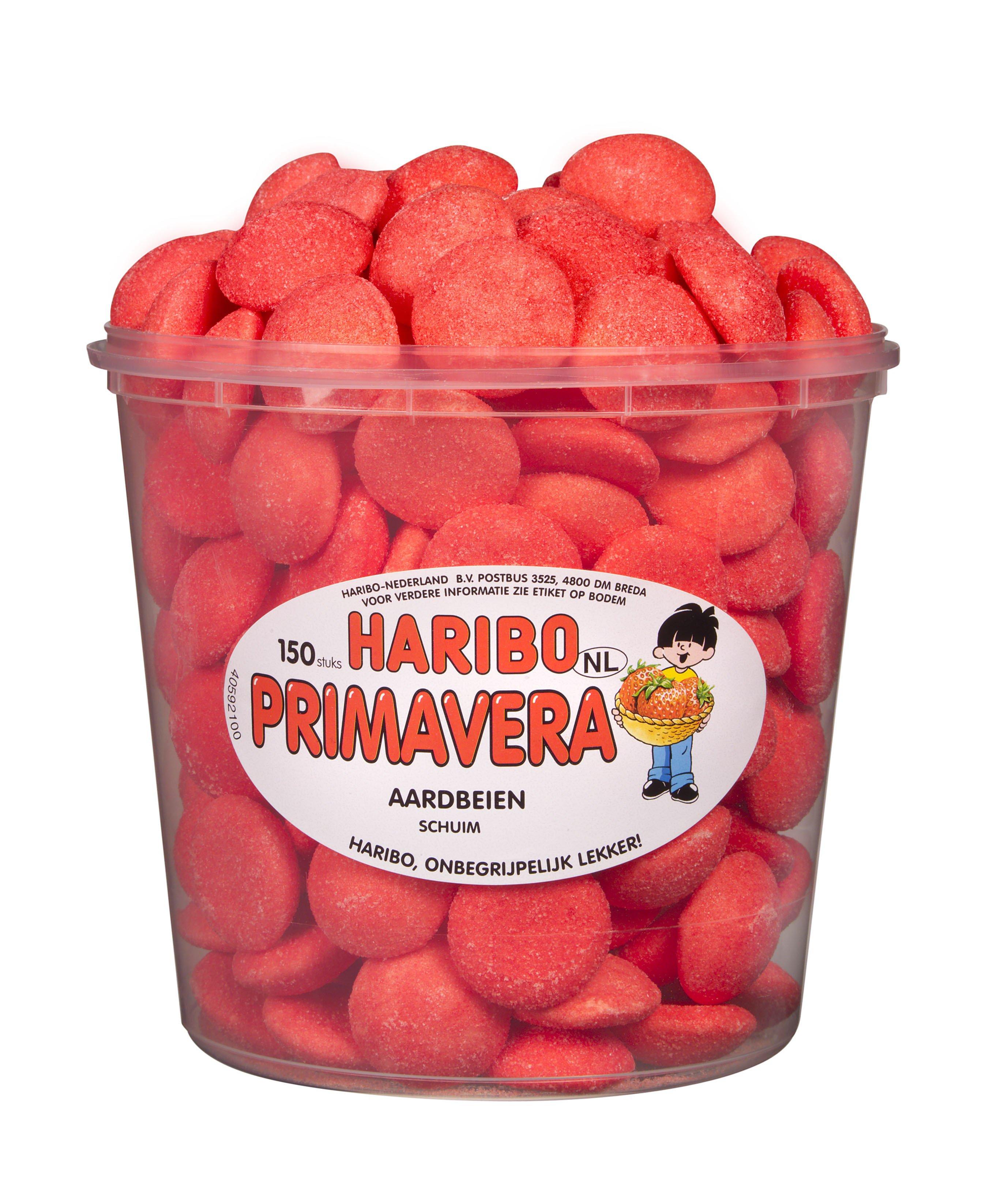 Haribo | Primavera Schuim aardbeien | 150 stuks