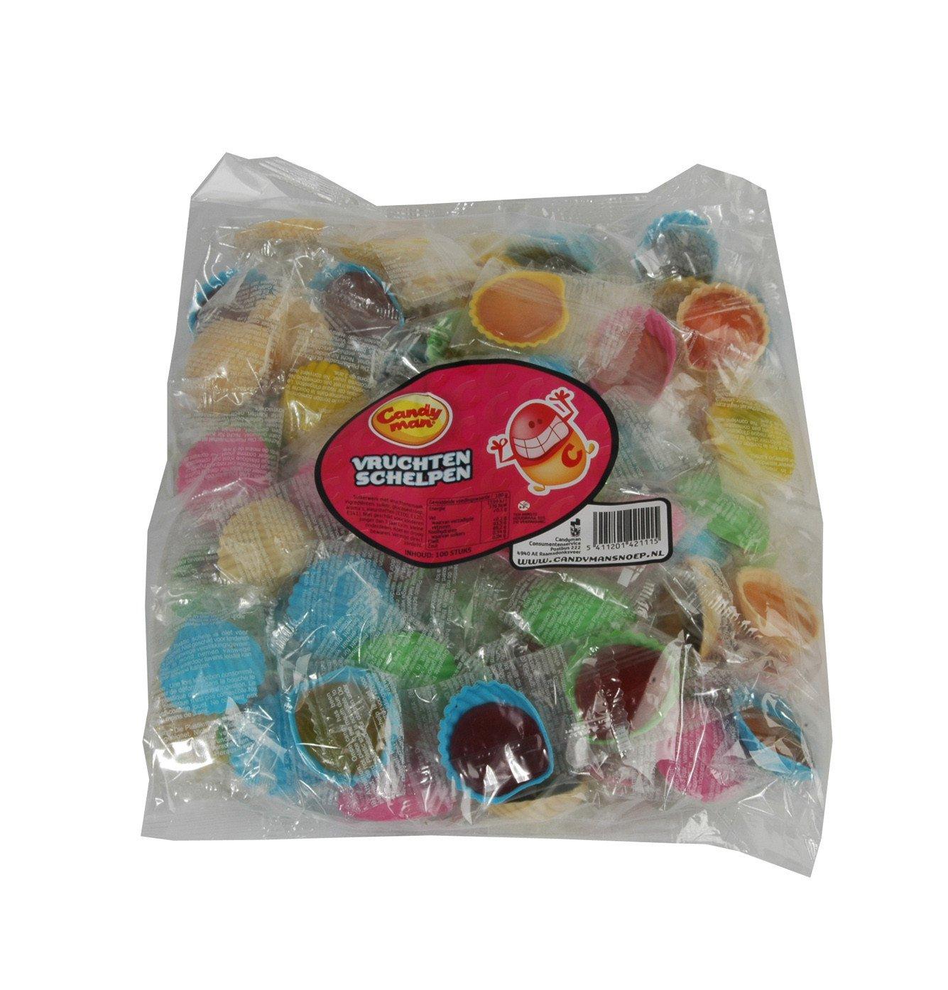 Candyman   Vruchtenschelpen   100 stuks
