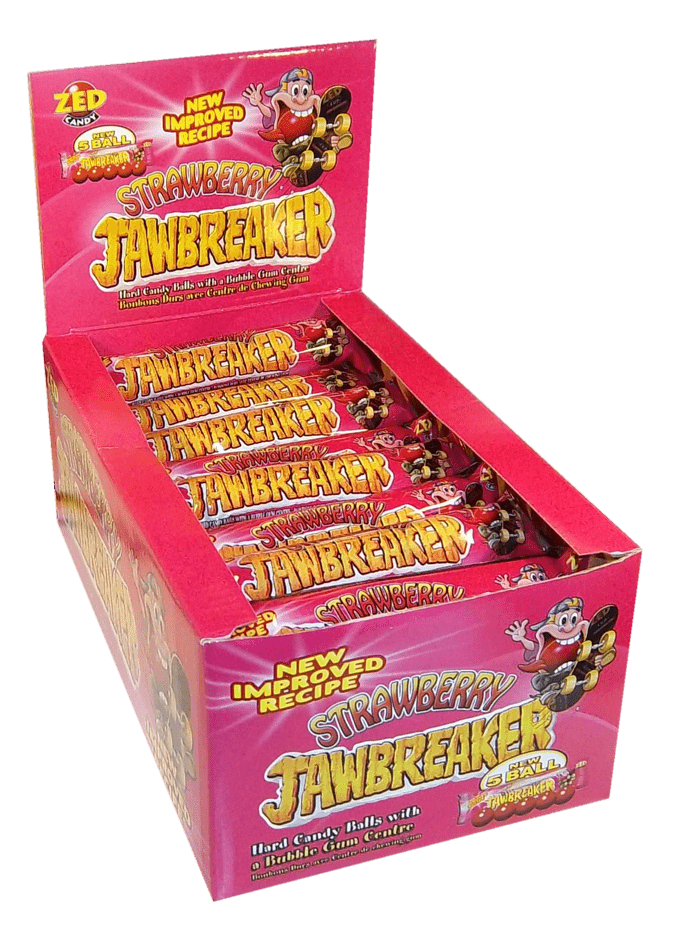 Jawbreaker | Strawberry | 5-pack | 40 stuks