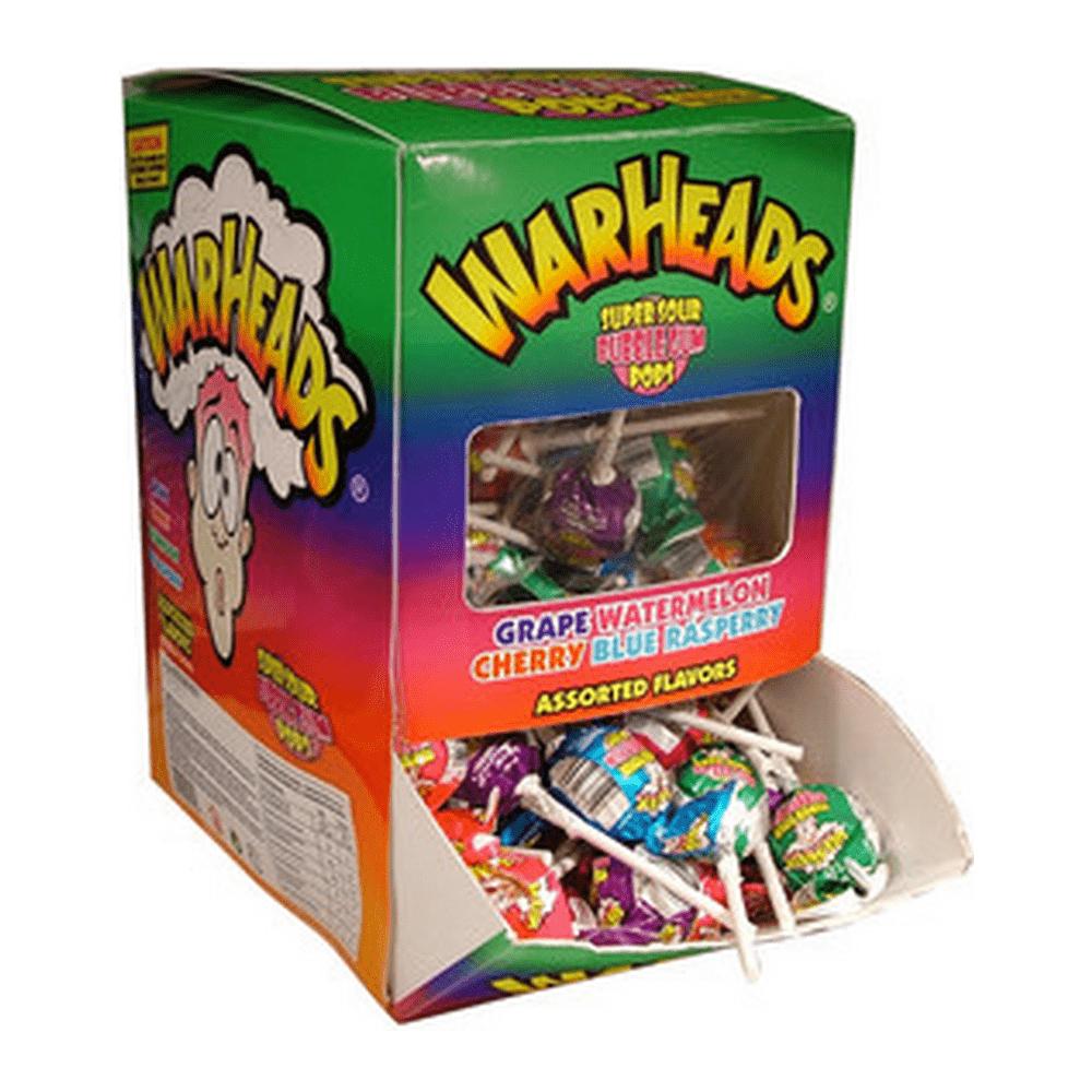 Warheads | Super Sour | Bubblegum Pops | Doos 100 lollies