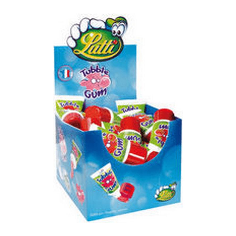 Lutti   Tubble Gum Cherry Tube   Doos 36 stuks
