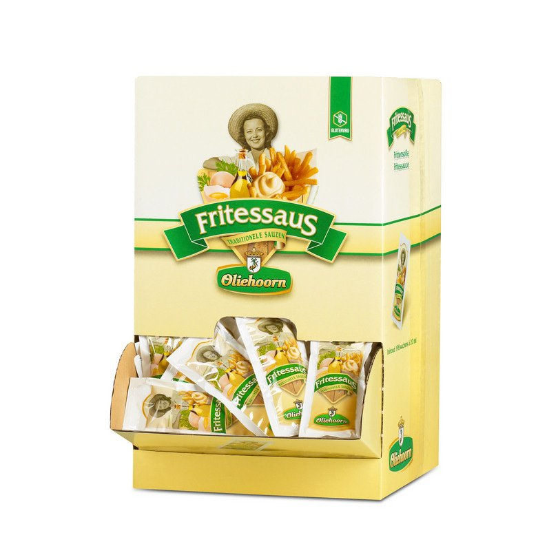 Oliehoorn   Fritessaus 35%   198 x 20 ml sachets