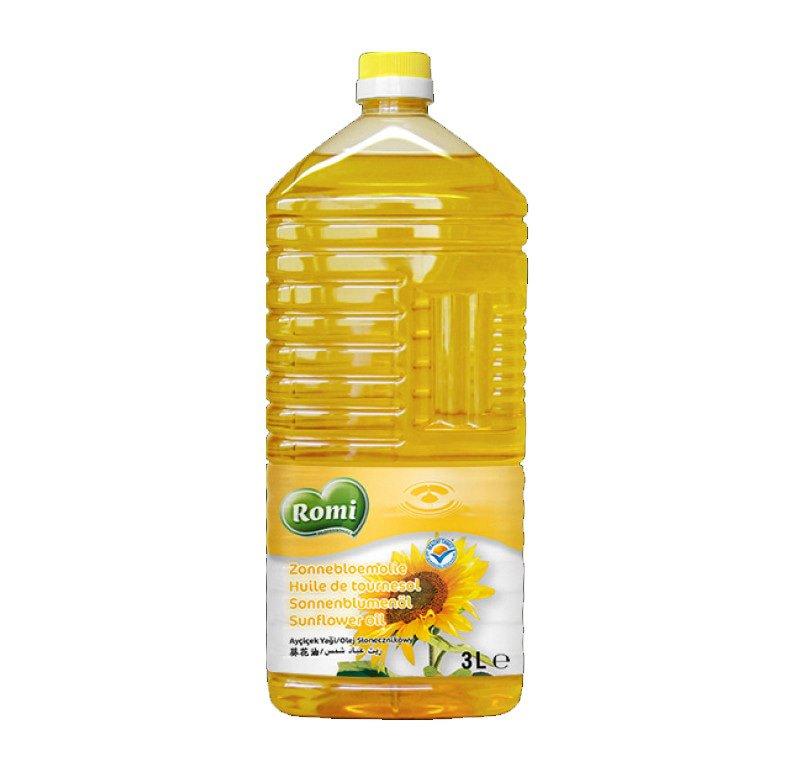 Romi | Zonnebloemolie | Fles 3 liter