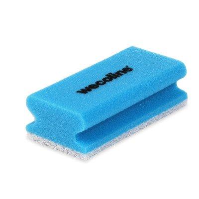 Wecoline   Schuurspons met grip   Blauw-wit   10 stuks