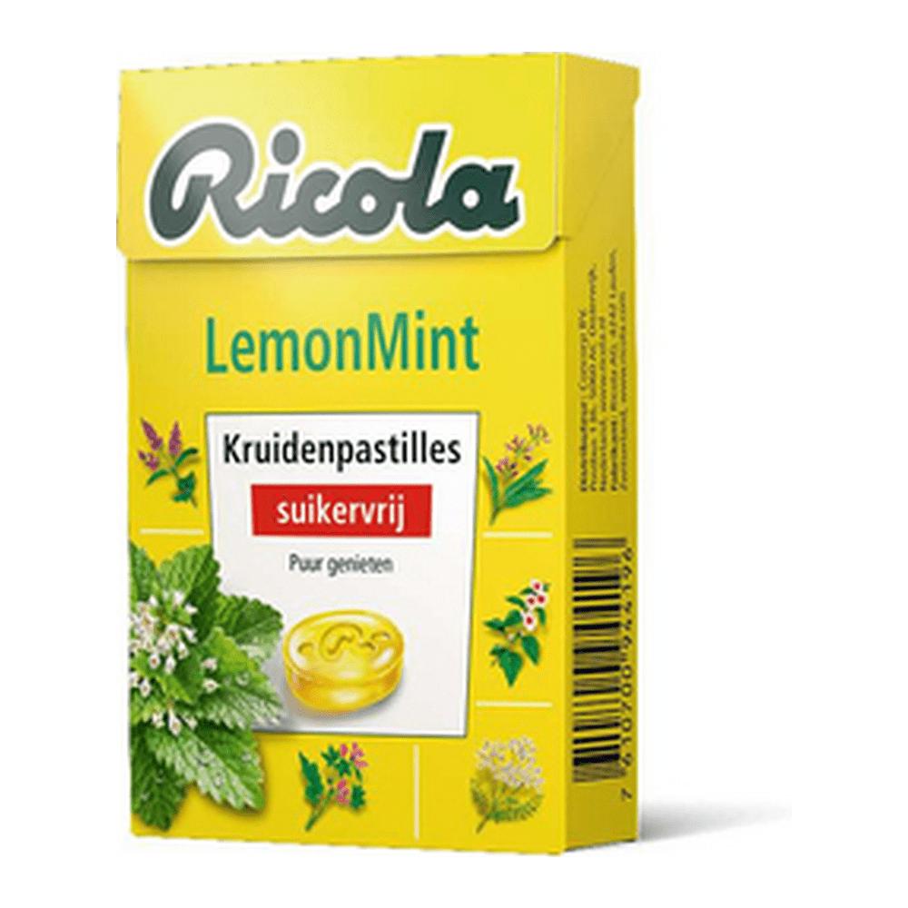 Ricola | Lemon Mint | Suikervrij | 20 x 50 gram