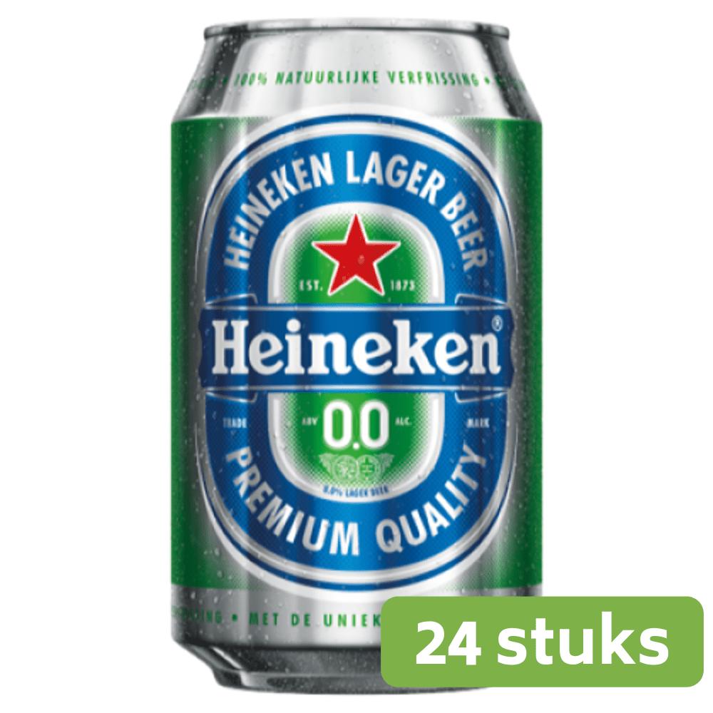 Heineken | 0.0% Alcoholvrij | Blik 24 x 33 cl