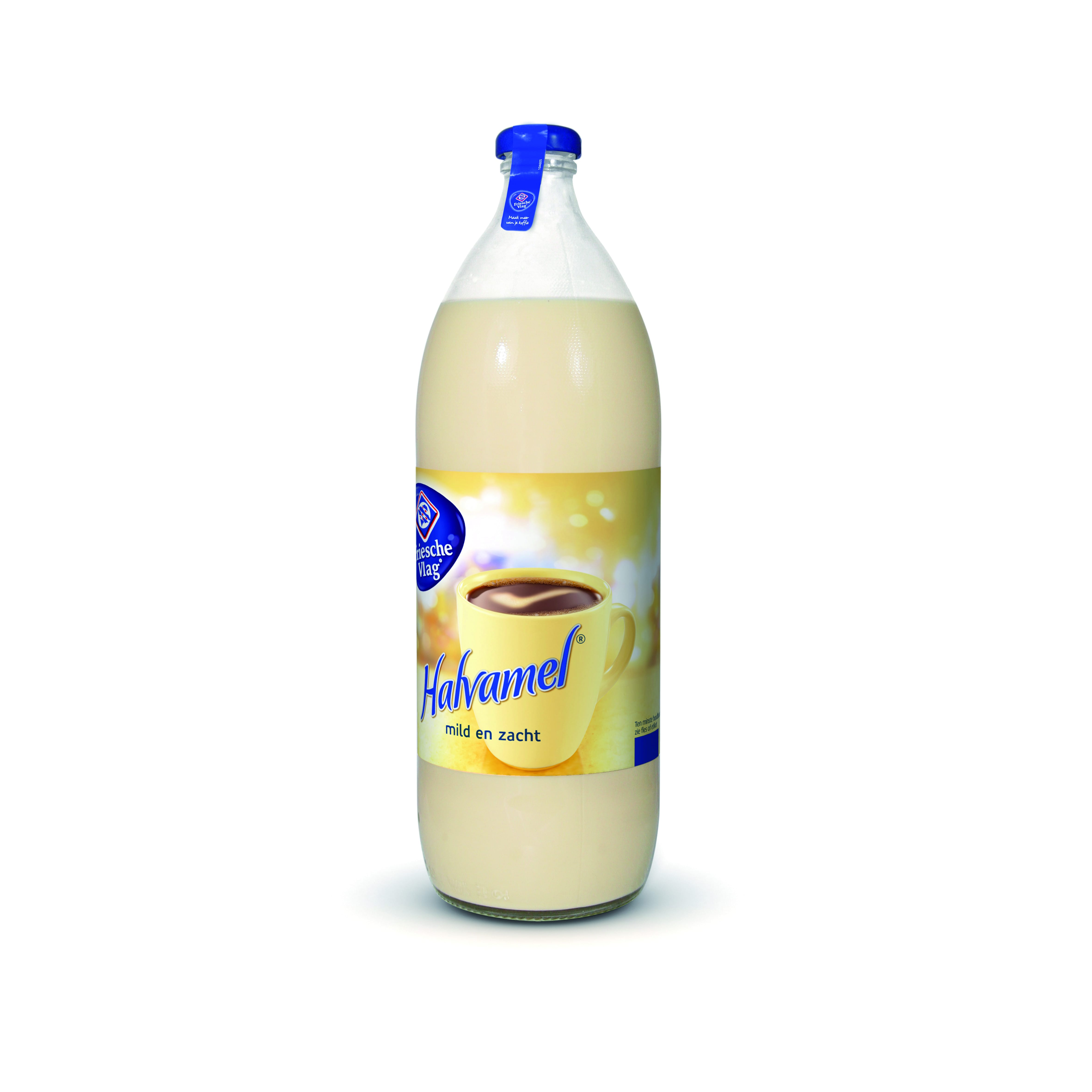 Friesche Vlag | Halvamel Koffiemelk | Fles 6 x 1 liter