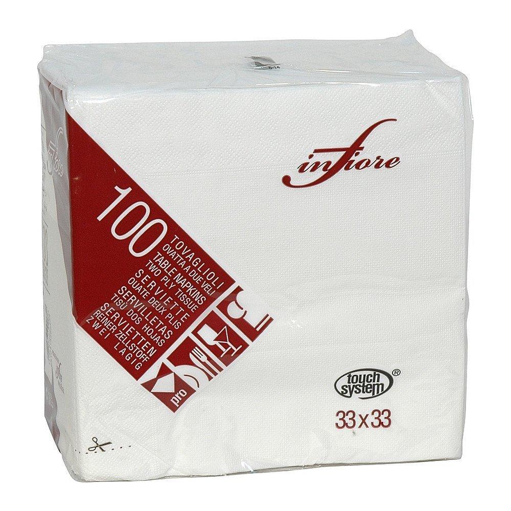 Euro Products Servetten wit 2 laags 33x33cm wit 24x100 stuks
