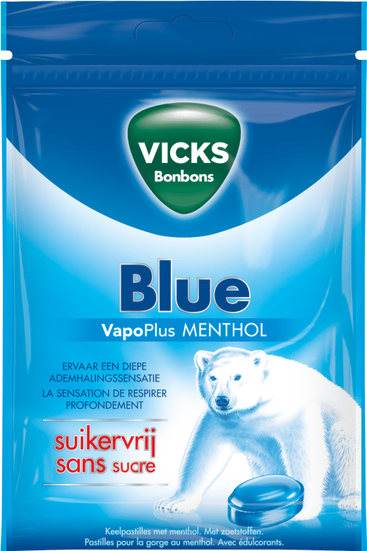 Vicks | Blue | Suikervrij | 20 stuks
