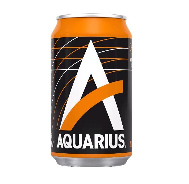 Aquarius Orange blik | Blik 24 x 33 cl