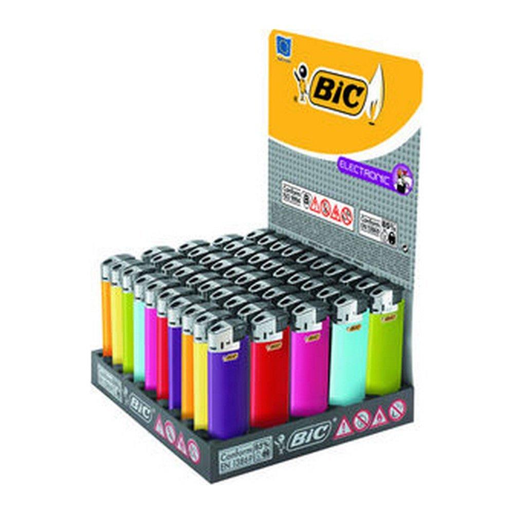 bic aanstekers electronic bicolor 50 stuks