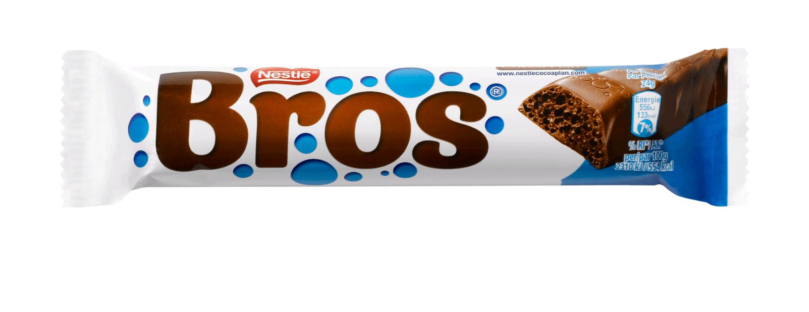 Bros | Luchtige chocoladereep | Doos 35 stuks