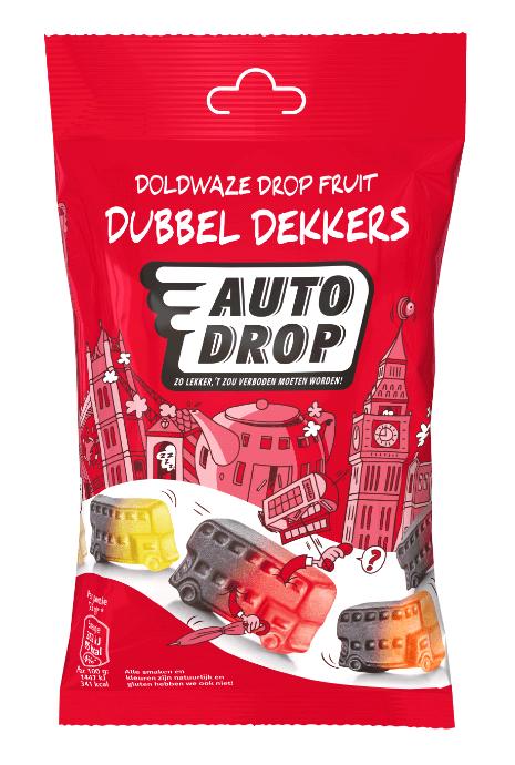 Autodrop | Dubbeldekkers | 16 x 85 gram