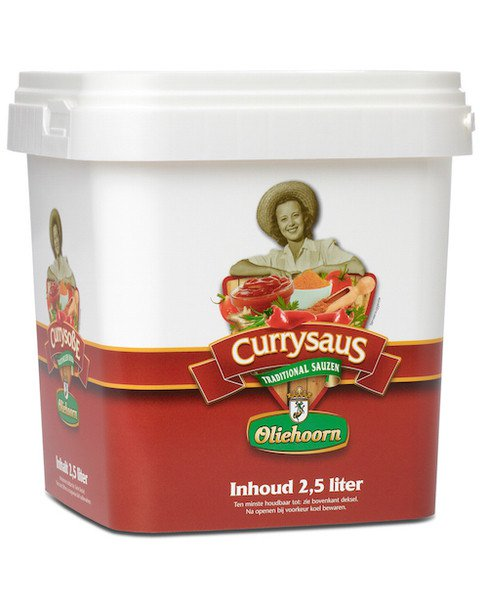 Oliehoorn | Currysaus | Emmer 2,5 liter