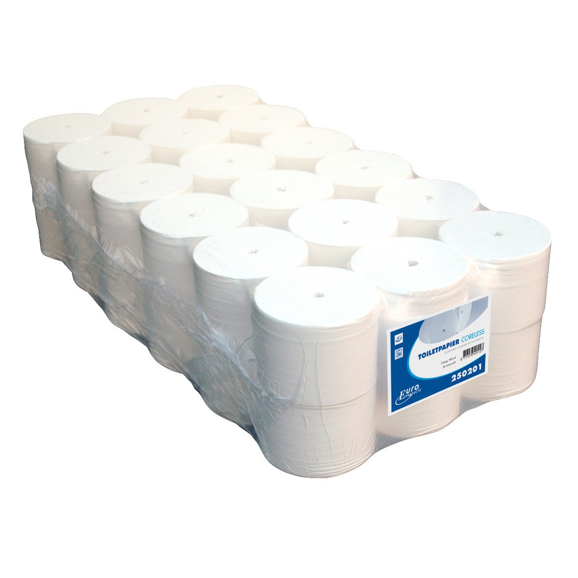 Euro Products | Toiletpapier | 2-laags | Coreless compact | 36 x 900 vel
