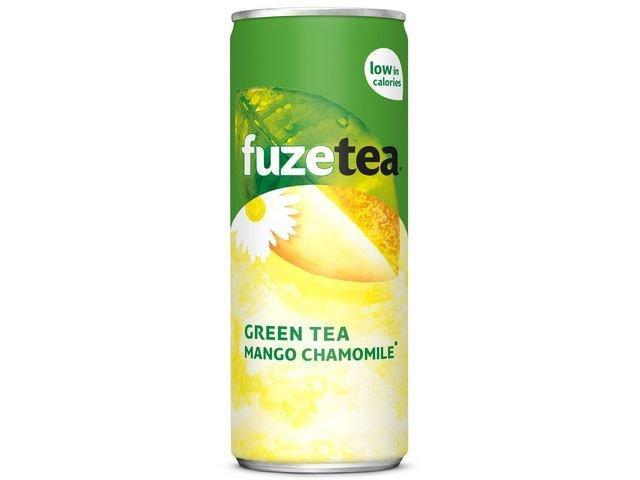 Fuze Tea Green Tea Mango Chamomile | Blik 24 x 25 cl