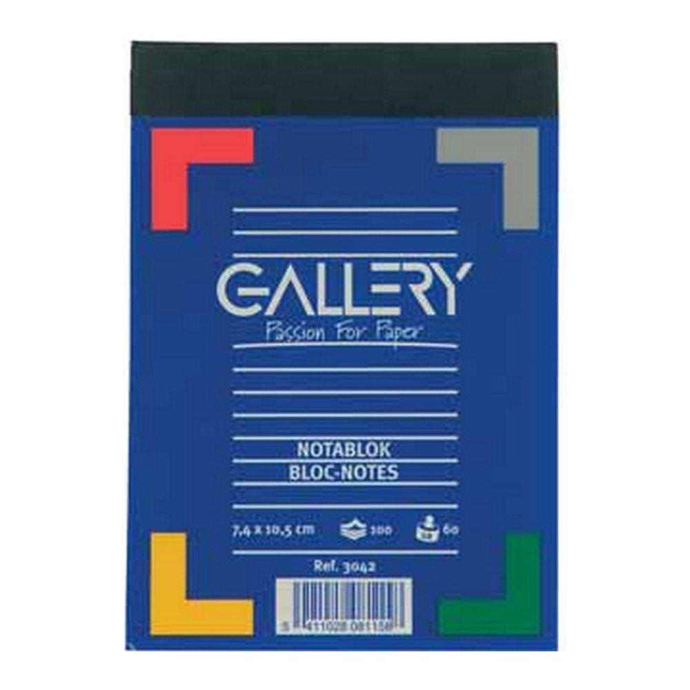 Gallery notitieblok 7,4 x 10,5 cm A7 gelijnd 10 stuks