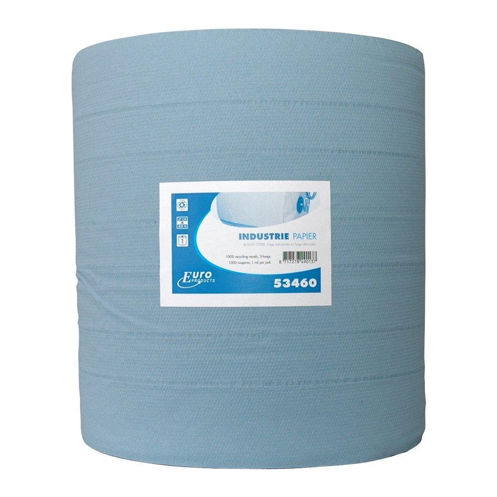 Industriepapier blauw sterk 3-laags 400 meter