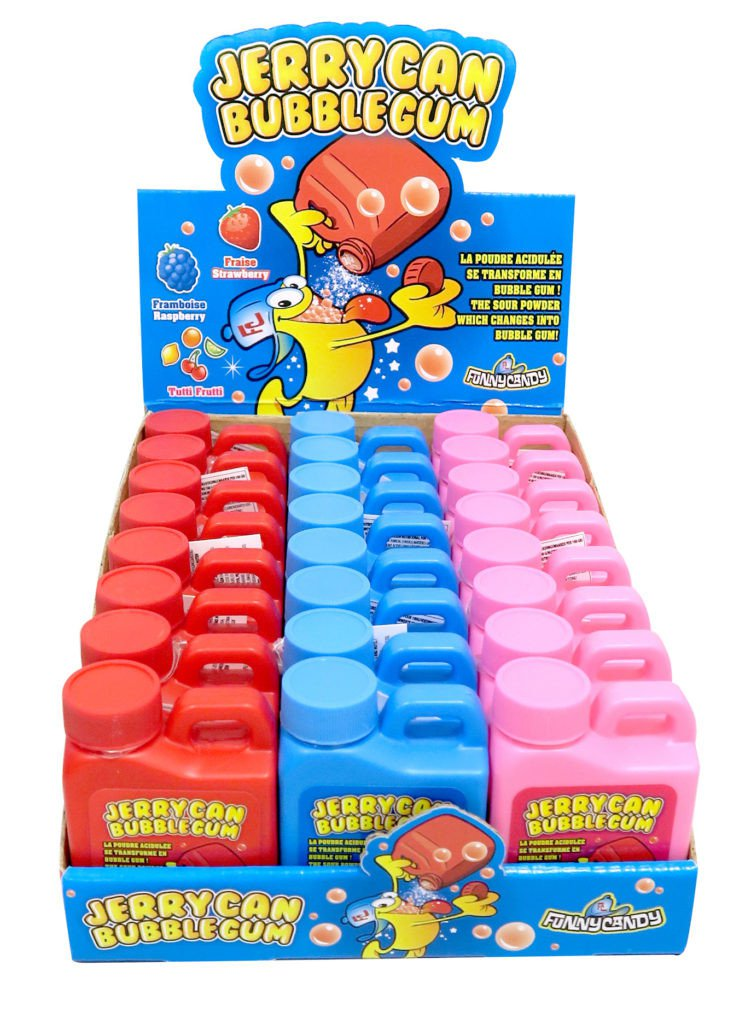 Funny Candy | Jerrycan Bubblegum | Display 24 stuks
