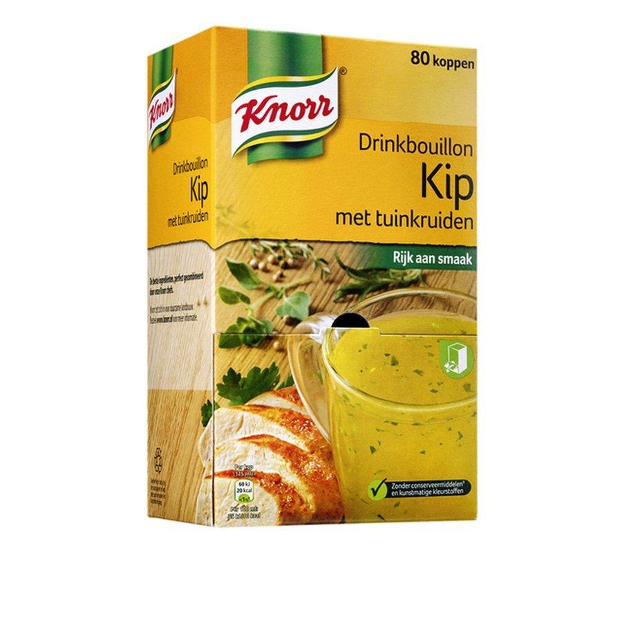 Knorr   Drinkbouillon   Kip   Doos 80 zakjes