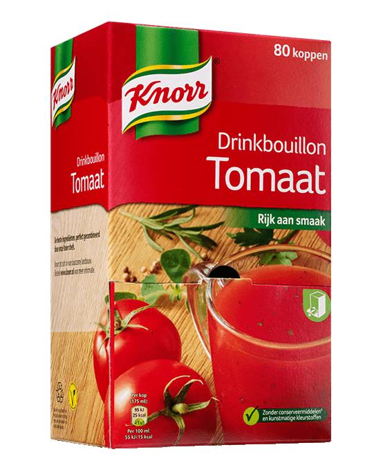Knorr | Drinkbouillon tomaat | Doos 80 stuks