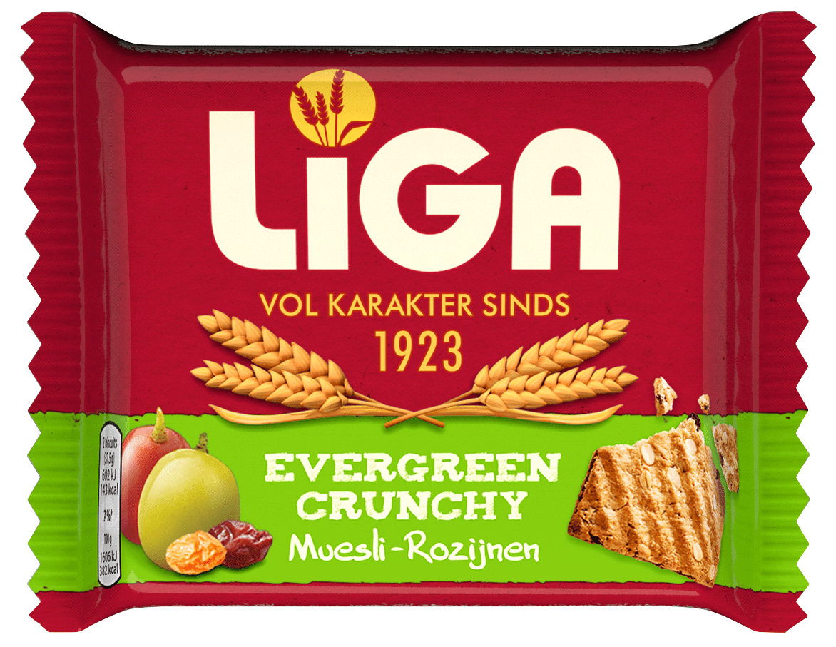 Liga | Evergreen Crunchy Muesli Rozijn | 24 stuks
