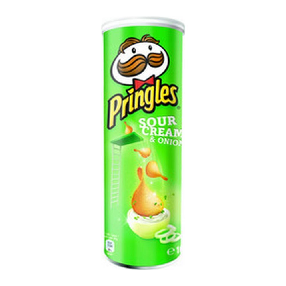 Pringles Sour Cream & Union, 19 stuks