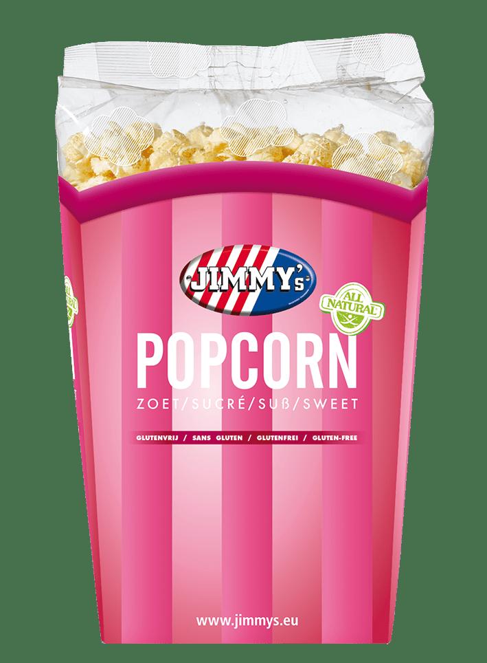 Jimmy's | Popcorn zoet | Tub 6 x 140 gram