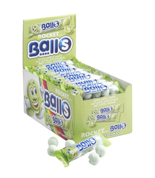 Astra Sweets | Rocket Balls | Appel | 5-pack