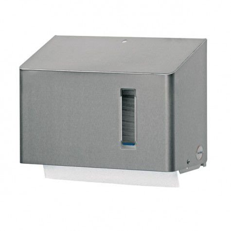 Vouwhanddoekdispenser Mini met kijkvenst. RVS santral