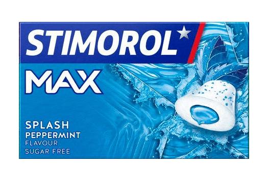 Stimorol   MAX   Splash peppermint   16 pakjes