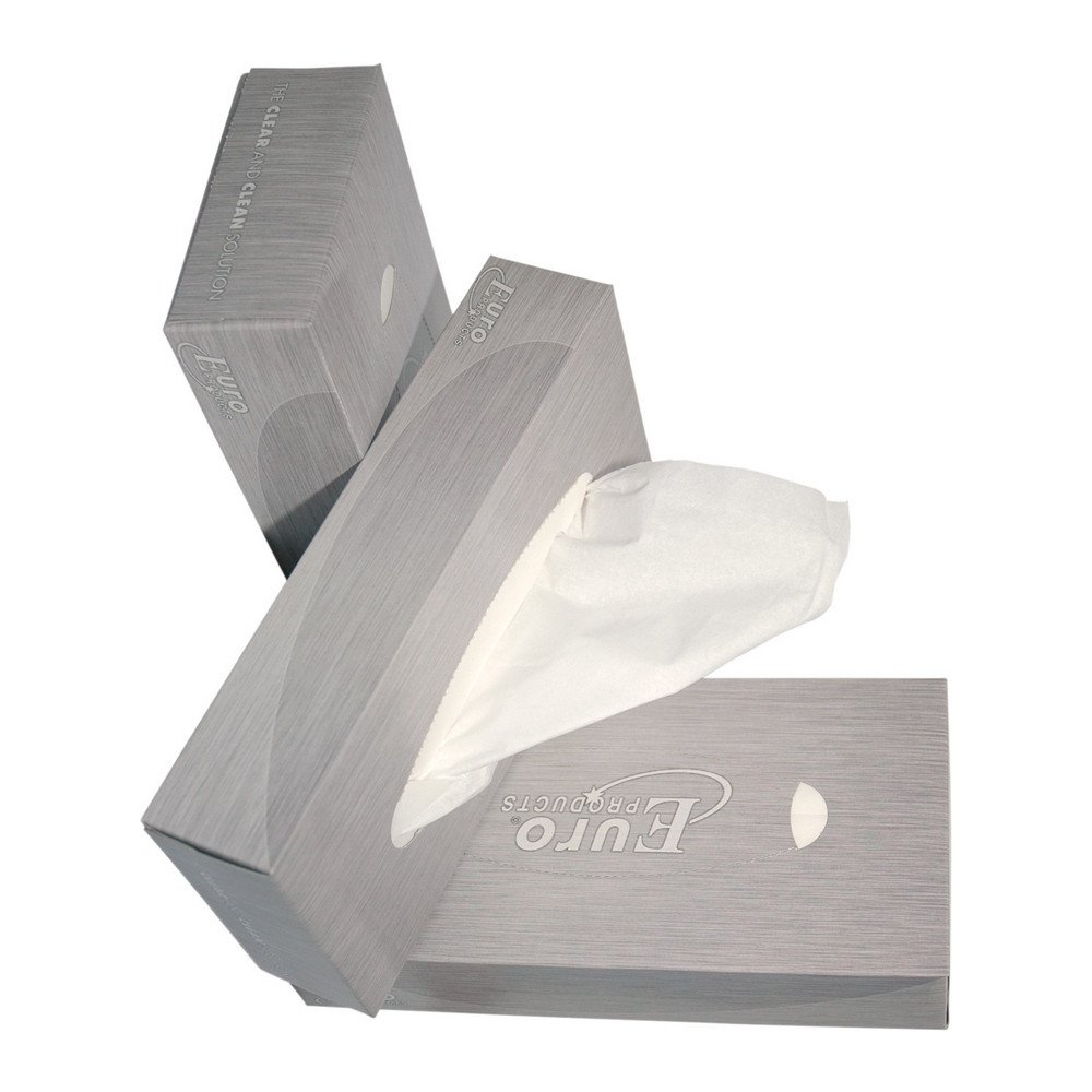 Euro Products   Tissues 2-laags 21 x 21 in dispenserdoos   40 x 100 stuks