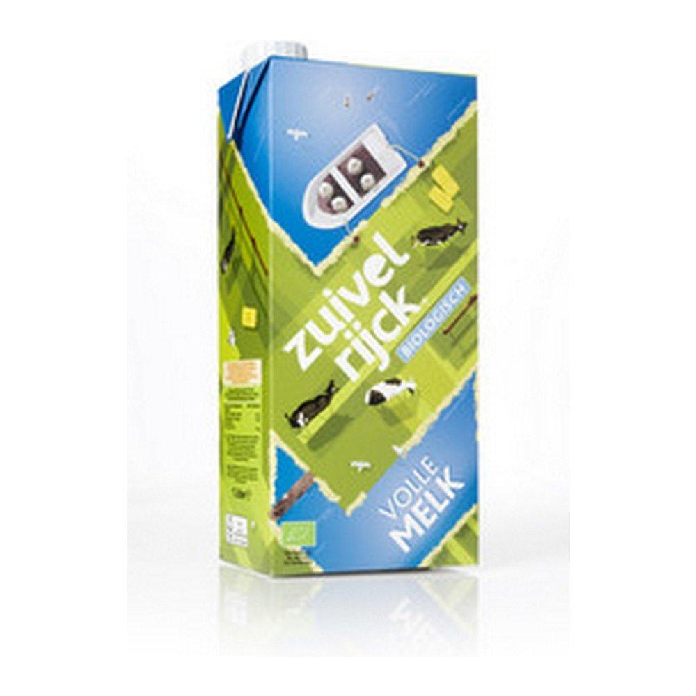 Zuivelrijck biologische volle melk pak 1 liter 12 stuks