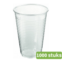 Plastic beker 200 ml transparant 1000 stuks