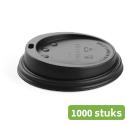 Douwe Egberts   Bekerdeksel   250 ml   Zwart   Doos 1000 stuks